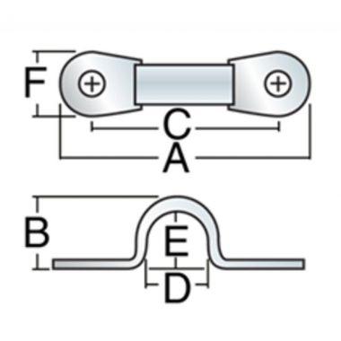 Harken 38 mm StandardEyestrap