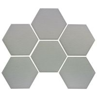 SeaDek Marine Products Hex Pads -  3 or 5mm x 150mm (6 Pack) - Storm Grey